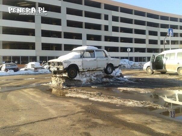 Samochód odnaleziony po zimie