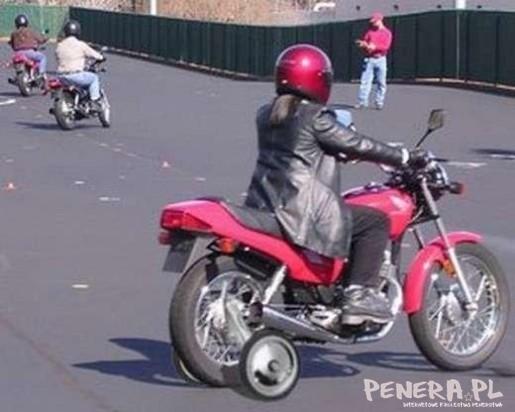 Początkujący motocyklista